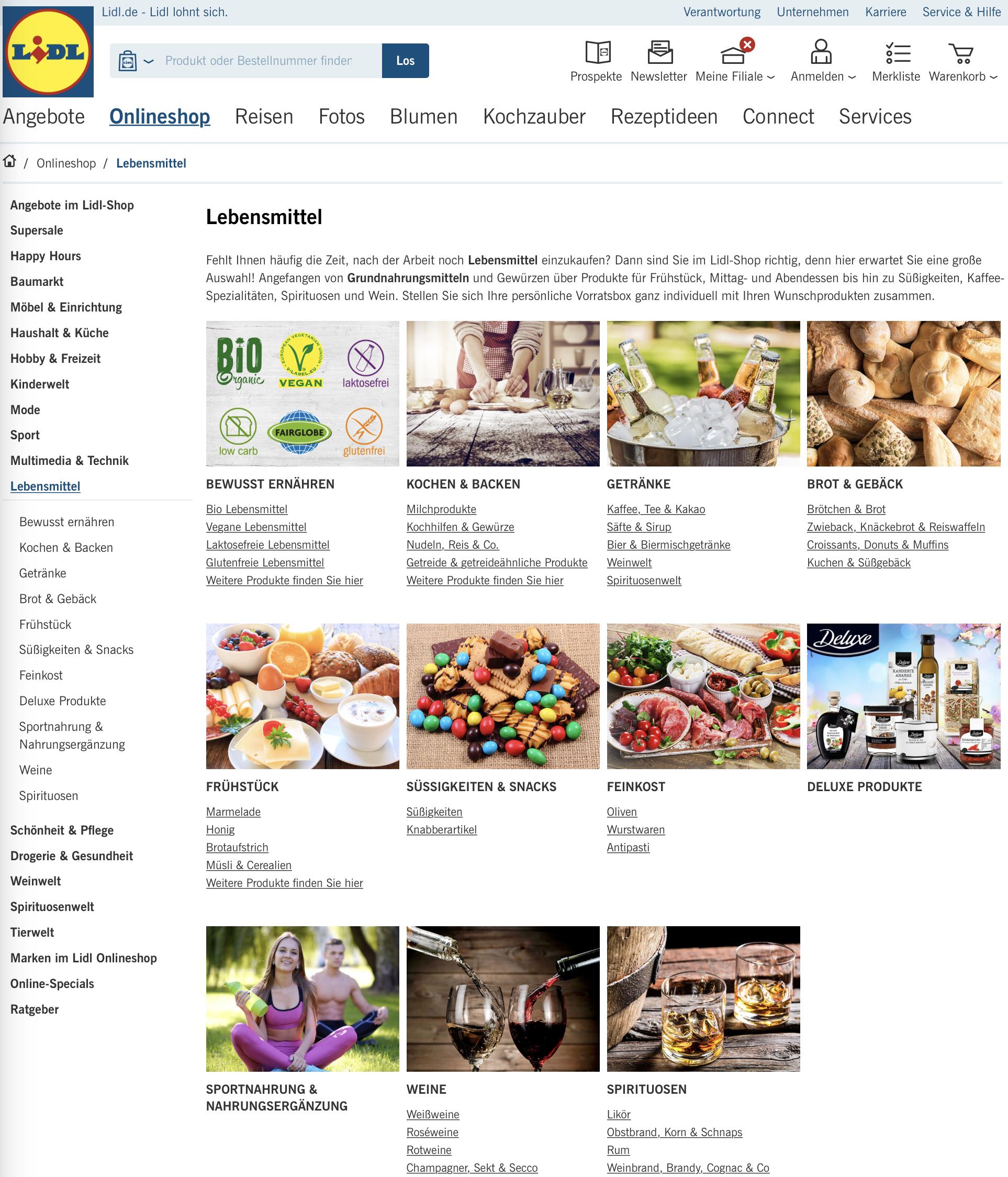 Lidl Onlineshop Live 11717 Supermarkt Inside