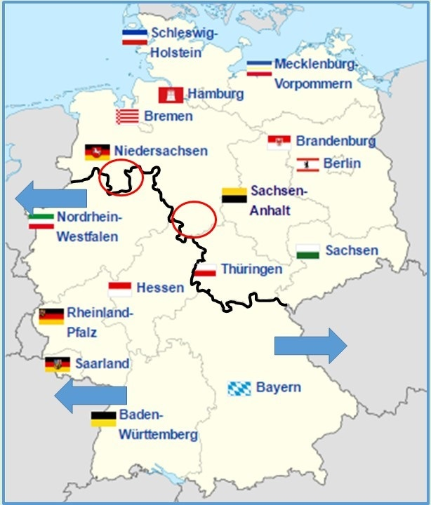 Deutschlandkarte Mit Aquator Supermarkt Inside